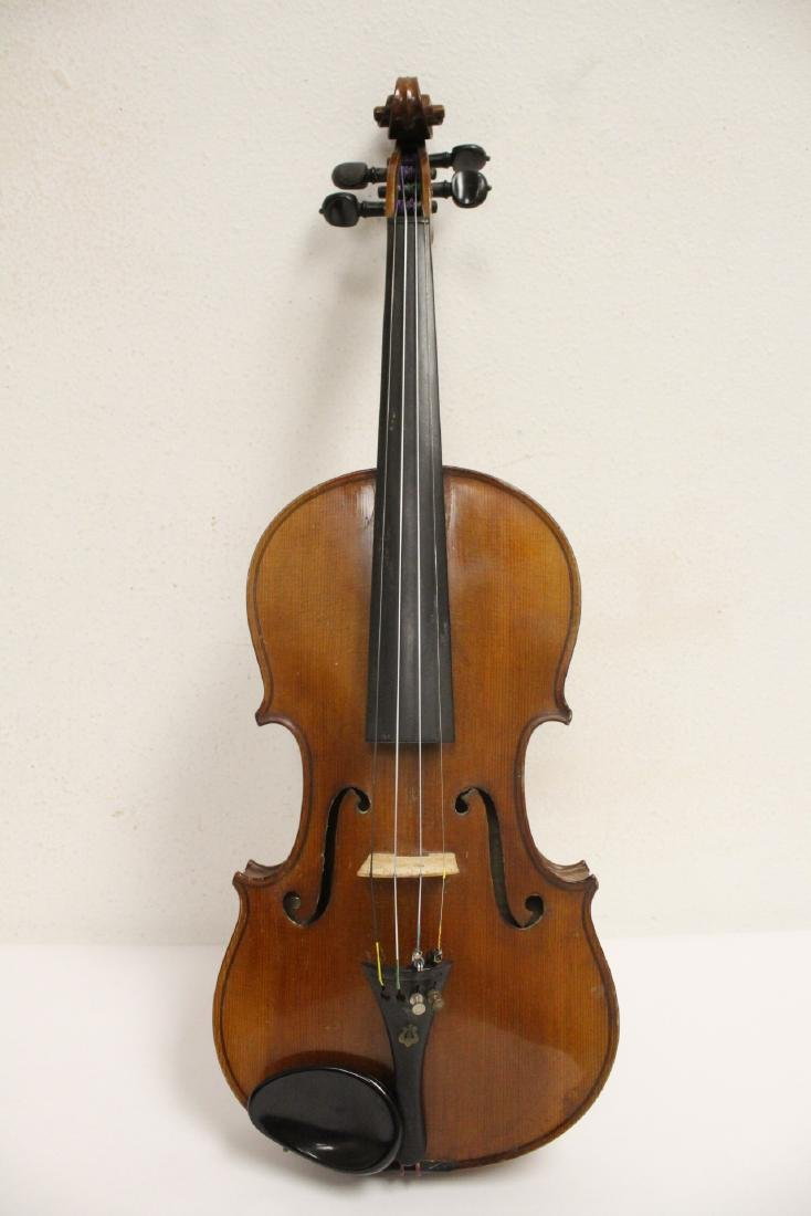 Antique violin with bow - 3