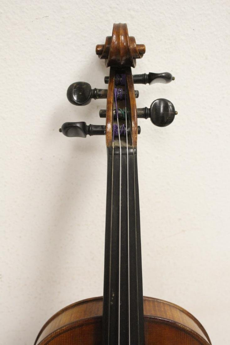 Antique violin with bow - 4