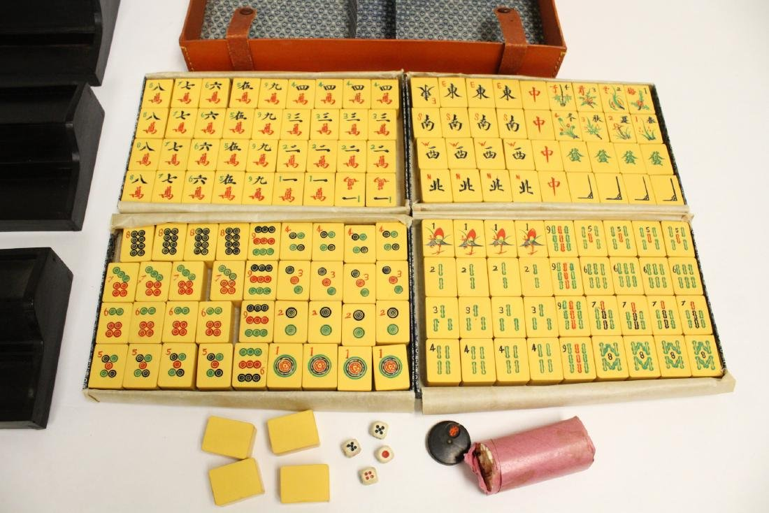 Chinese mahjong set with accessories - 2