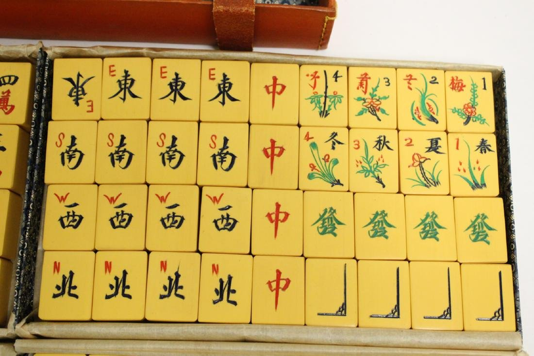 Chinese mahjong set with accessories - 4