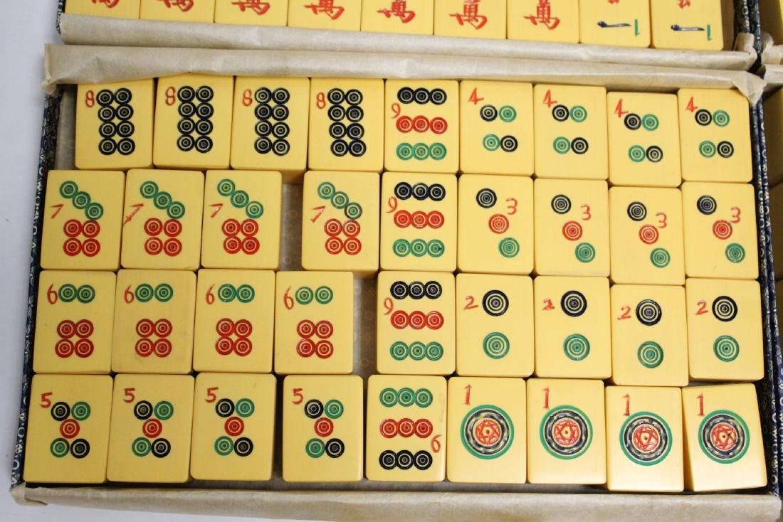 Chinese mahjong set with accessories - 6