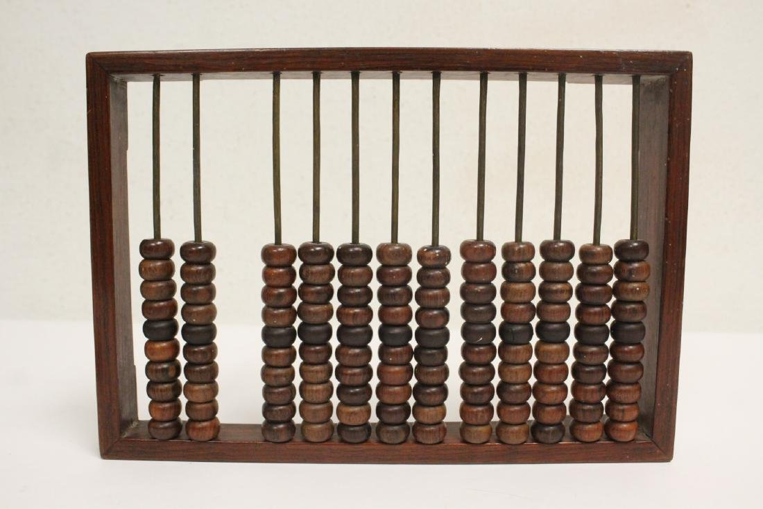 Chinese huanghuali wood abacus and 9 pairs chopsticks - 2