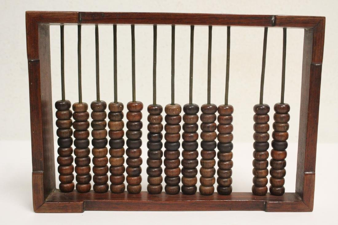 Chinese huanghuali wood abacus and 9 pairs chopsticks - 5