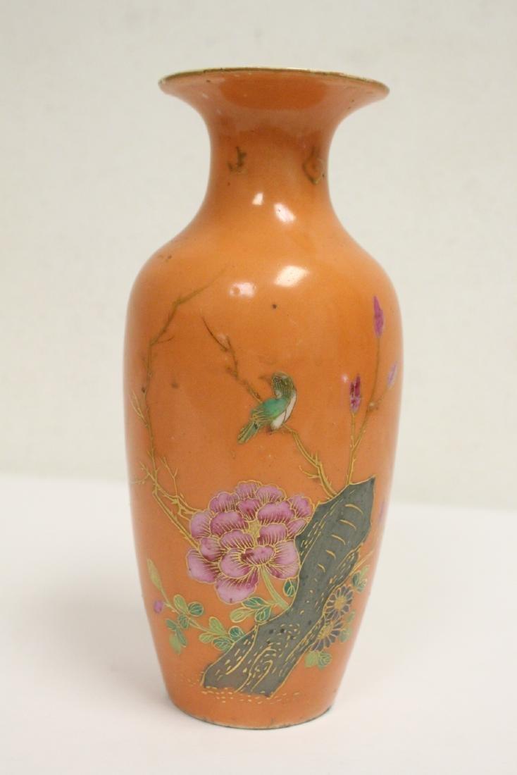 Chinese antique porcelain vase, & a b&w porcelain plate - 2