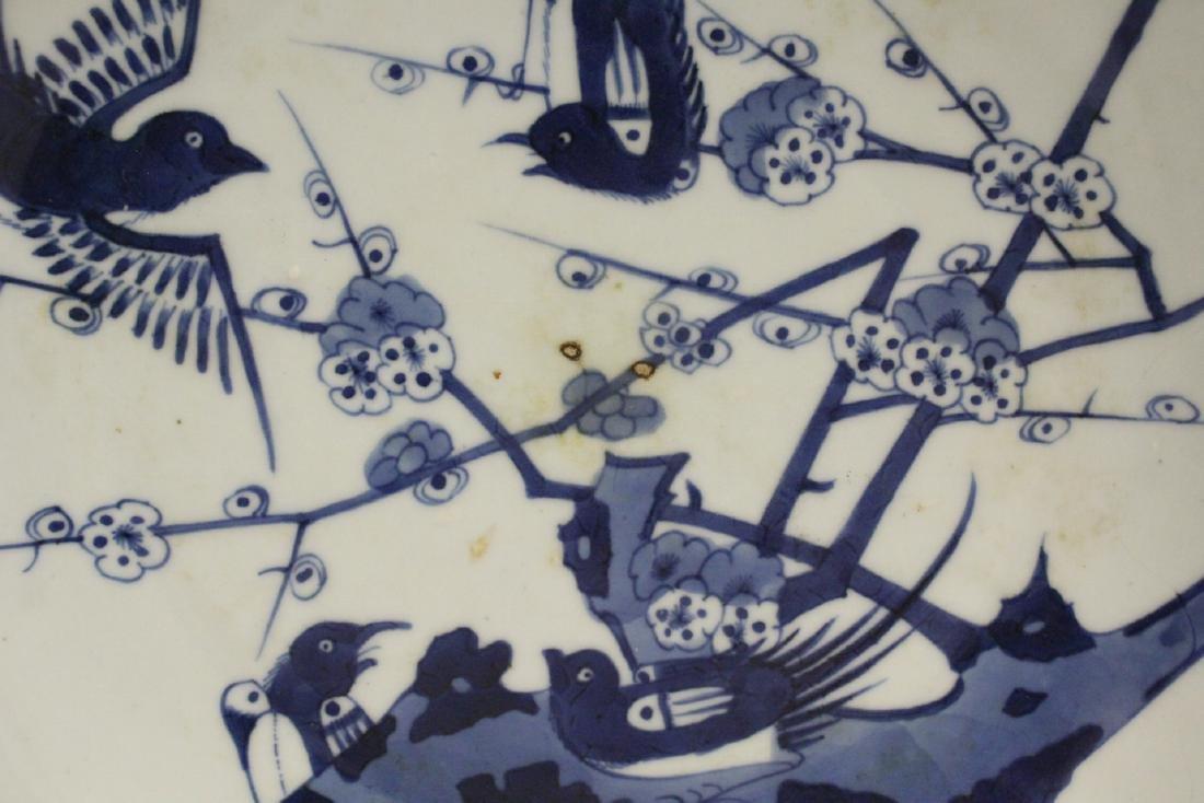 Chinese antique porcelain vase, & a b&w porcelain plate - 9
