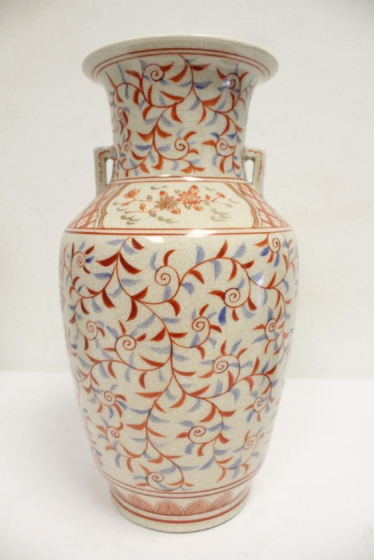 2 porcelain vase,s, and a figure - 9