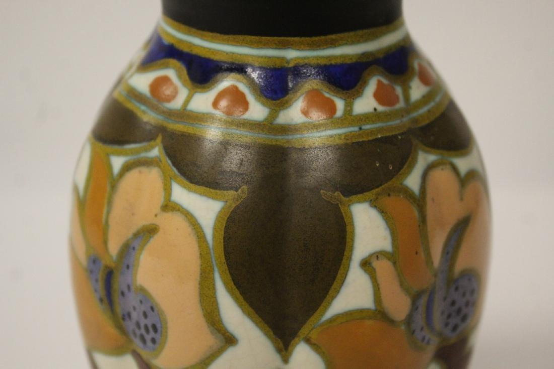 A fine Gouda art pottery vase - 10