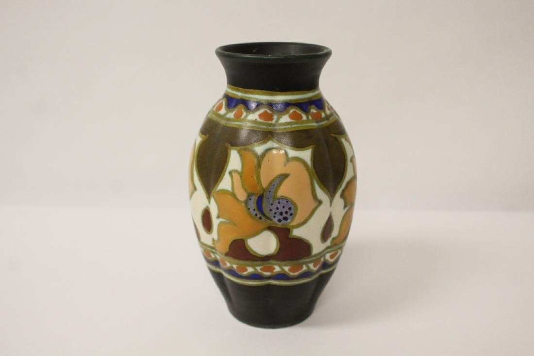 A fine Gouda art pottery vase