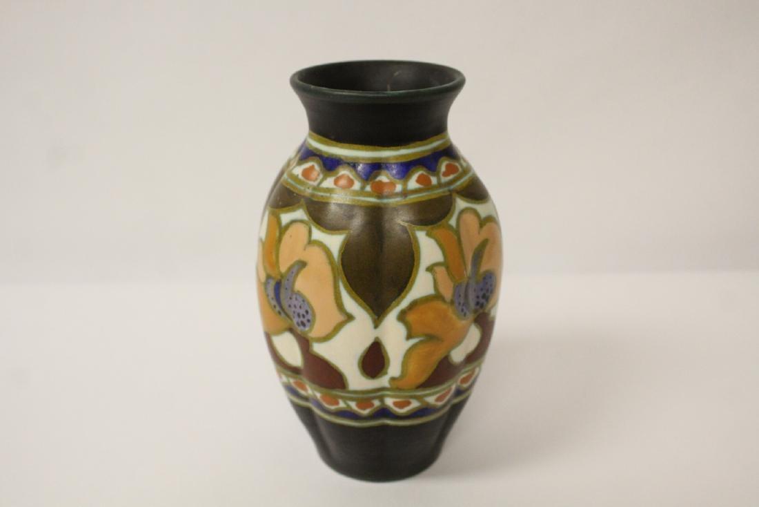 A fine Gouda art pottery vase - 2