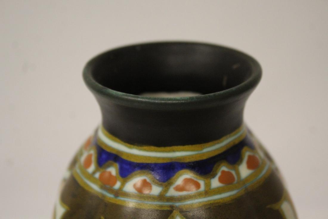 A fine Gouda art pottery vase - 5