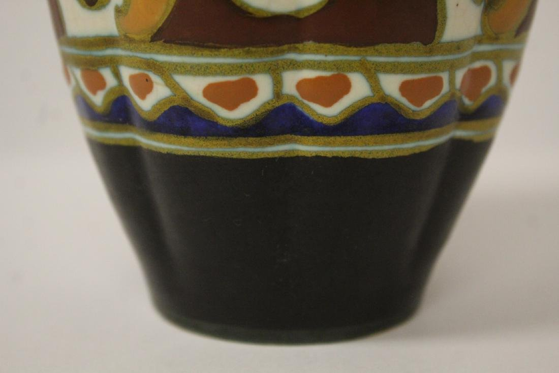 A fine Gouda art pottery vase - 6