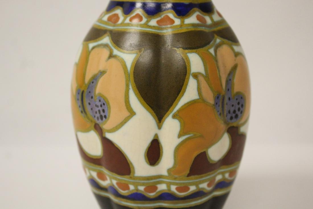 A fine Gouda art pottery vase - 7
