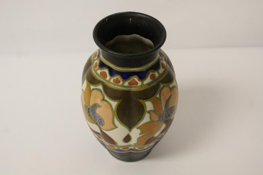 A fine Gouda art pottery vase - 8