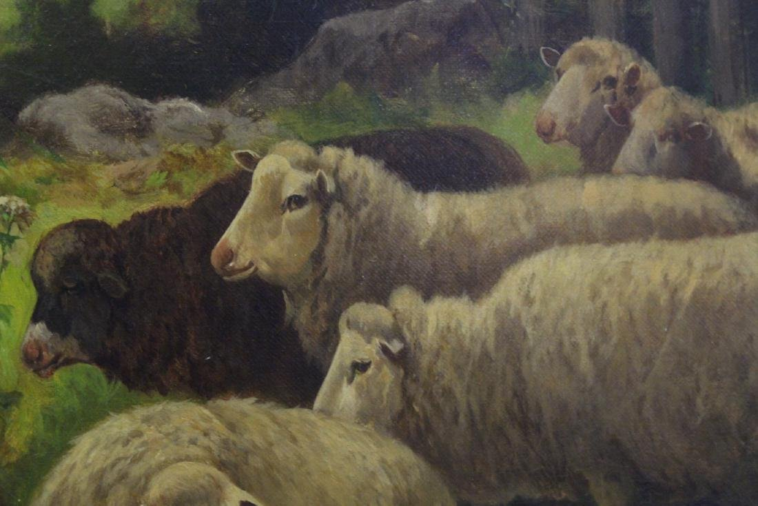 19th/20th c. oil on canvas, signed Scott Leight - 10