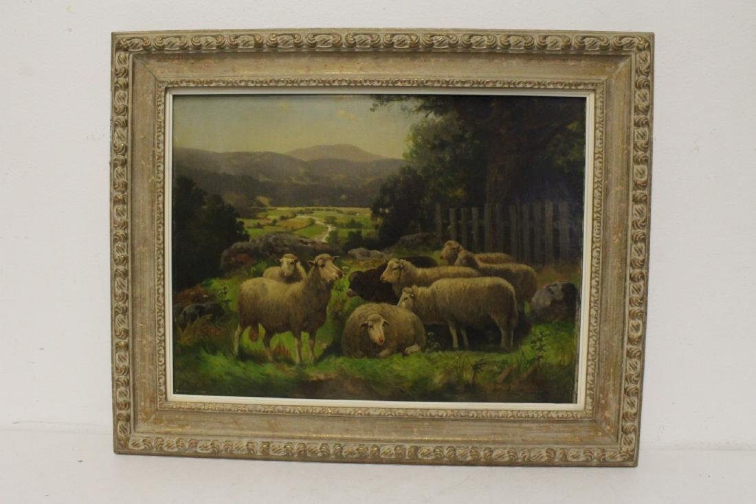 19th/20th c. oil on canvas, signed Scott Leight