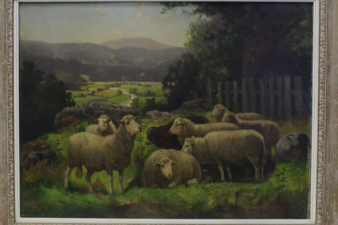 19th/20th c. oil on canvas, signed Scott Leight - 2