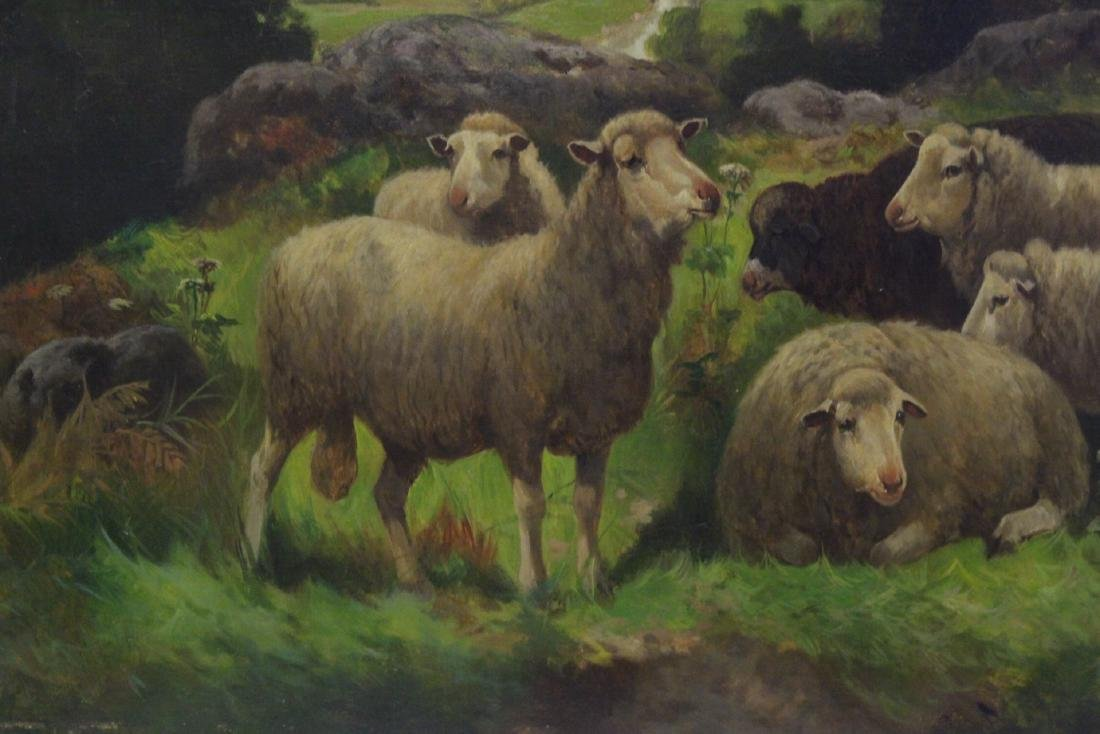 19th/20th c. oil on canvas, signed Scott Leight - 4