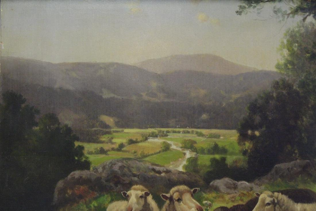 19th/20th c. oil on canvas, signed Scott Leight - 6