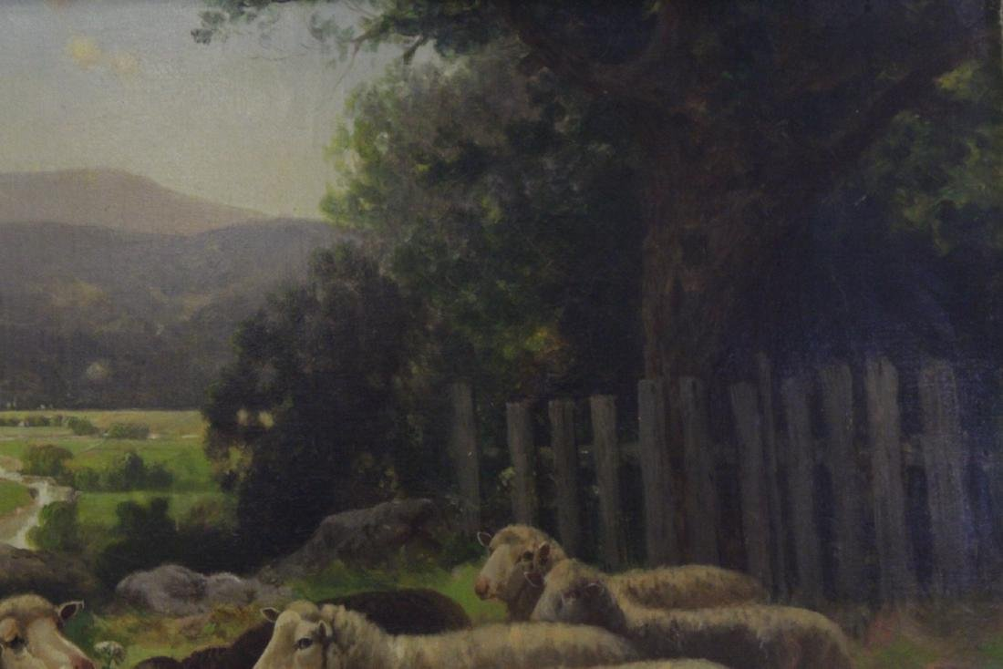 19th/20th c. oil on canvas, signed Scott Leight - 7