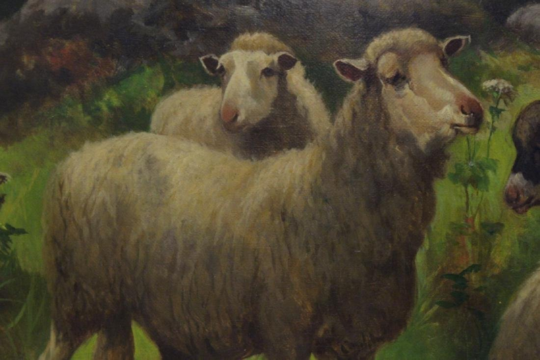 19th/20th c. oil on canvas, signed Scott Leight - 9