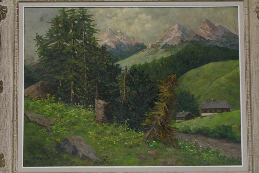 Oil on canvas by Constantin Stoitzner - 2