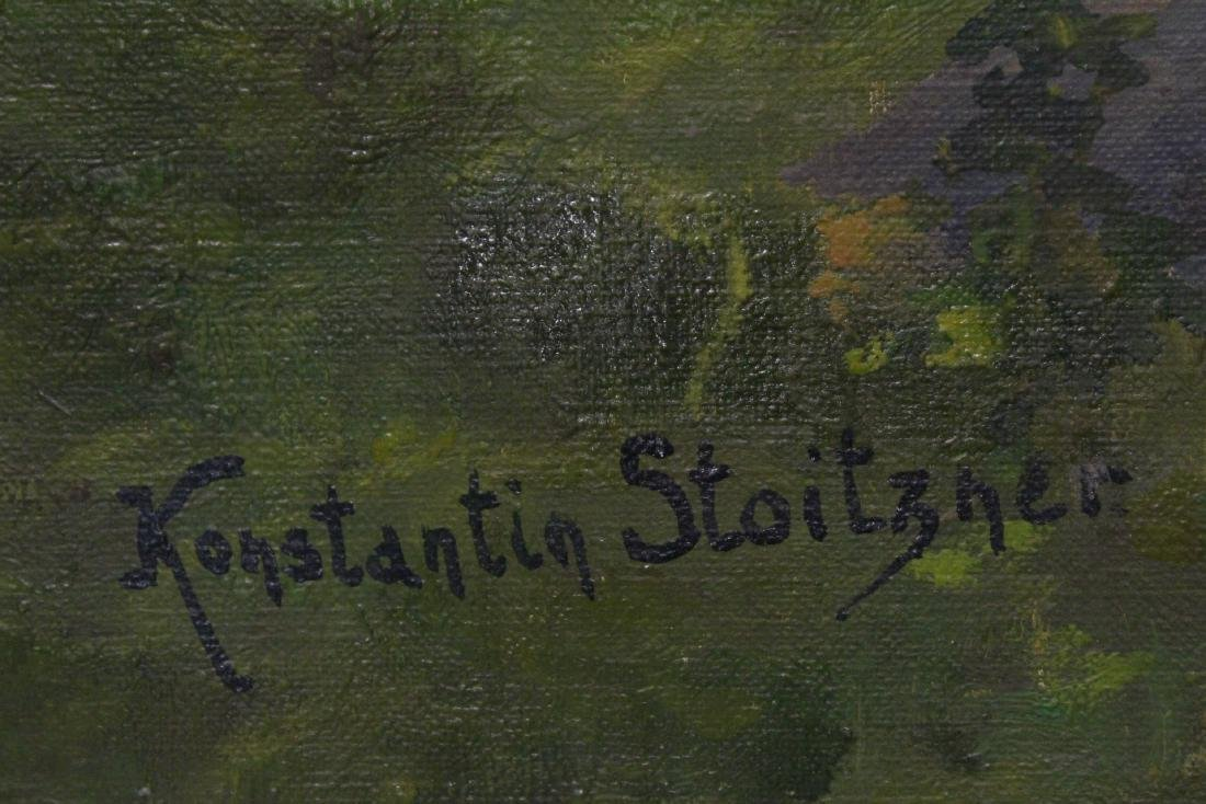 Oil on canvas by Constantin Stoitzner - 7