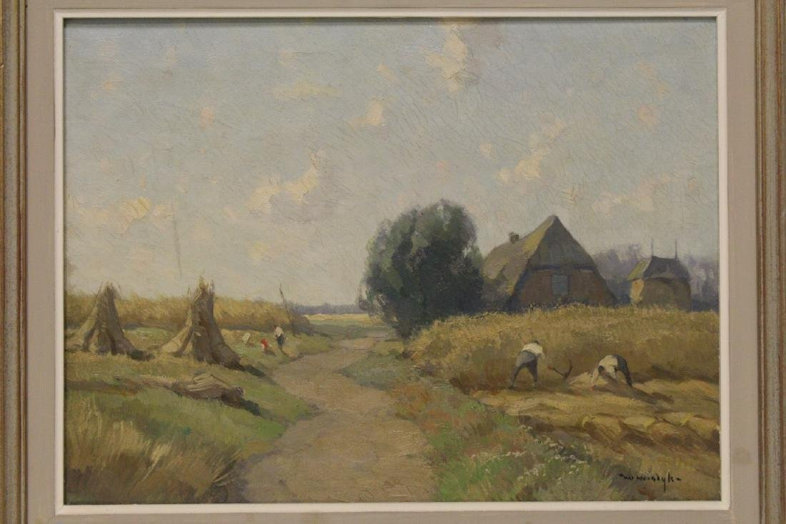 """Oil on canvas """"harvest"""", signed - 2"""