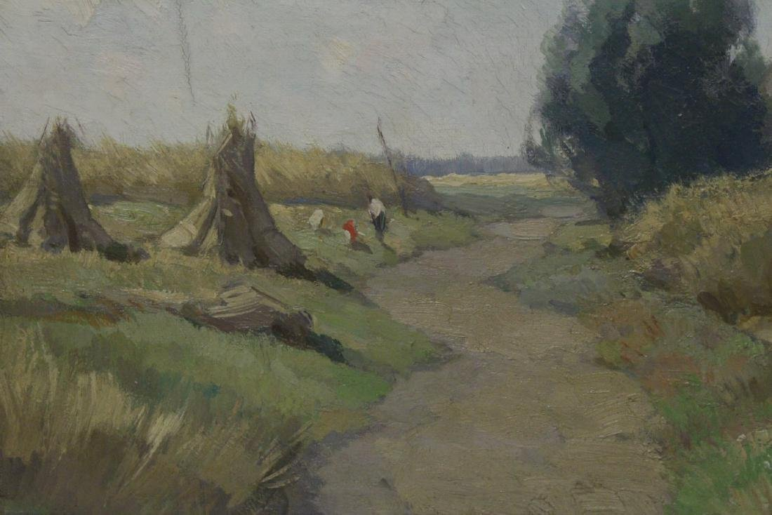 """Oil on canvas """"harvest"""", signed - 3"""