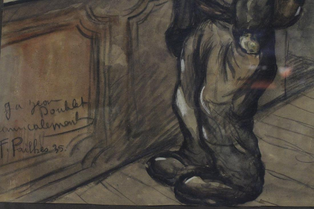 Pastel on paper by Fred Pailhes, dated 1935 - 4