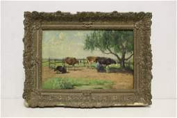 A beautiful 19th c oil on canvas painting signed