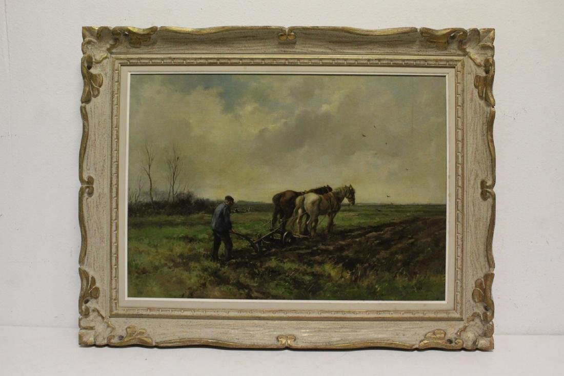 Beautiful 19th/20th c. oil on canvas painting, signed