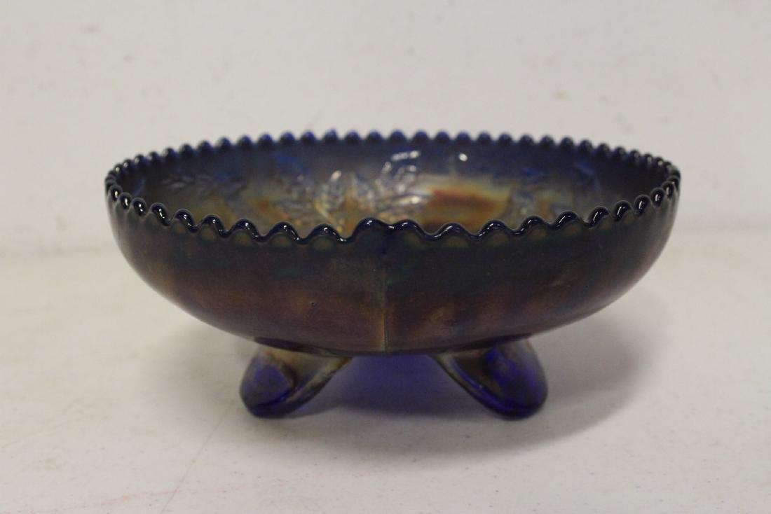 A rare vintage carnival glass bowl - 2