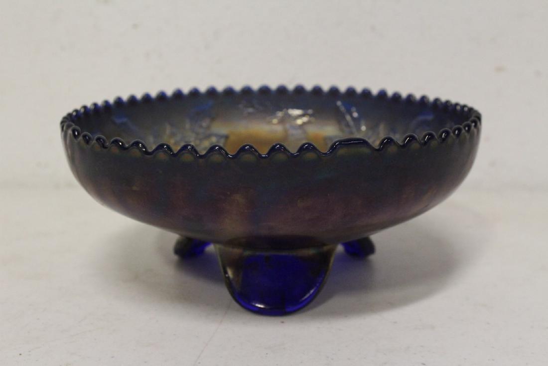 A rare vintage carnival glass bowl - 3