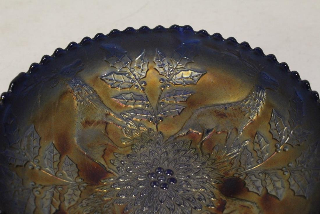 A rare vintage carnival glass bowl - 6