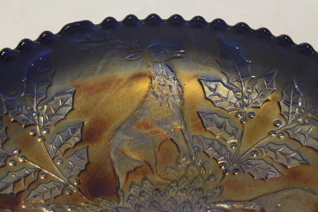 A rare vintage carnival glass bowl - 7
