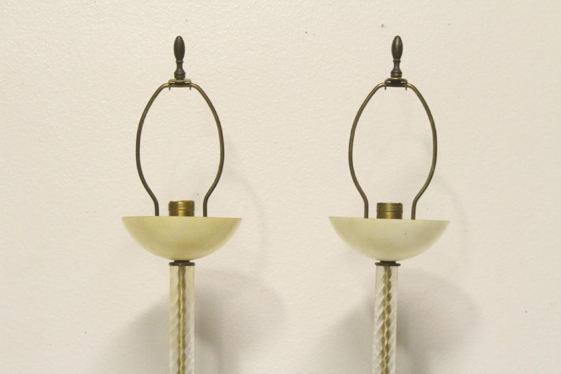 Pair vintage Venetian glass lamps - 2