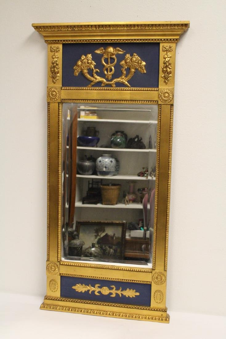 A beautiful antique French giltwood mirror