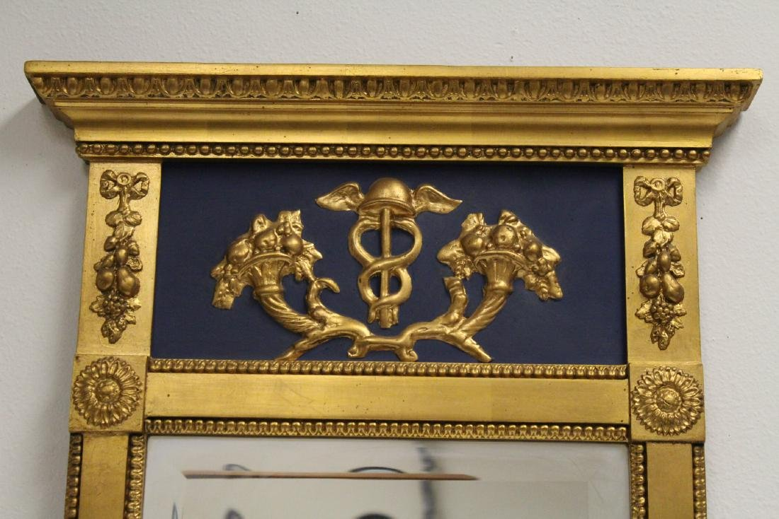 A beautiful antique French giltwood mirror - 2