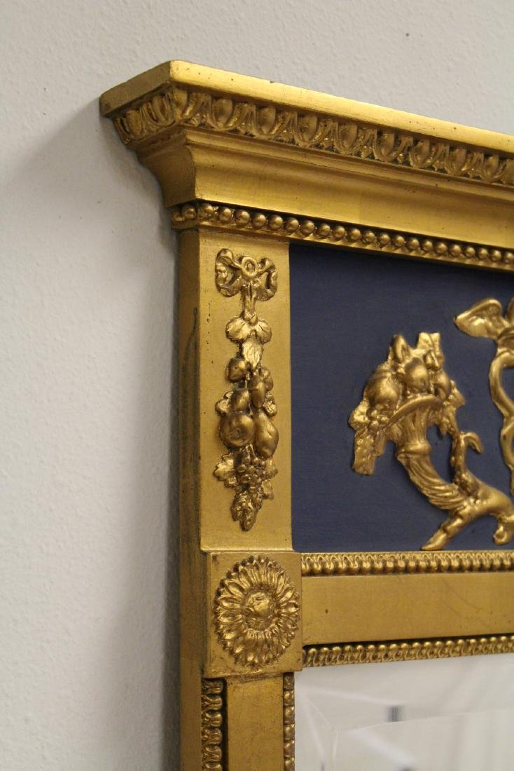 A beautiful antique French giltwood mirror - 8