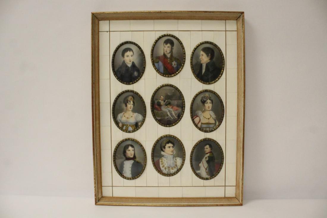 Beautiful framed 9 miniature paintings