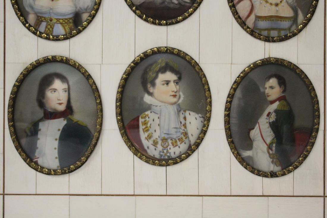Beautiful framed 9 miniature paintings - 2