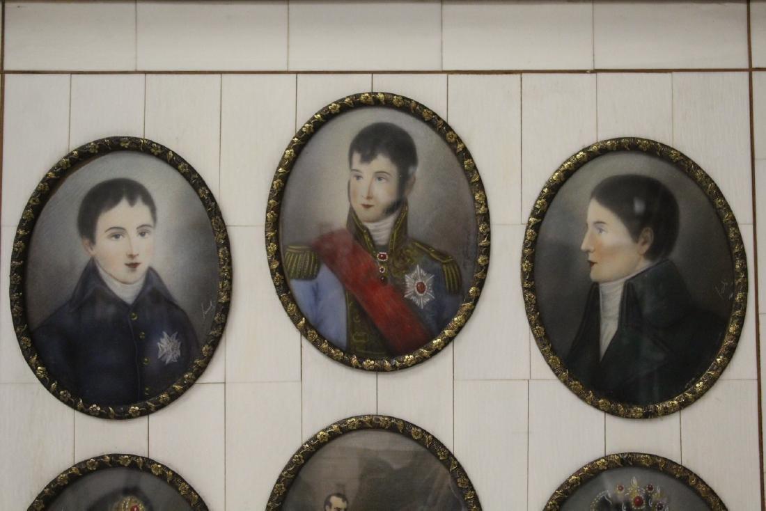 Beautiful framed 9 miniature paintings - 4