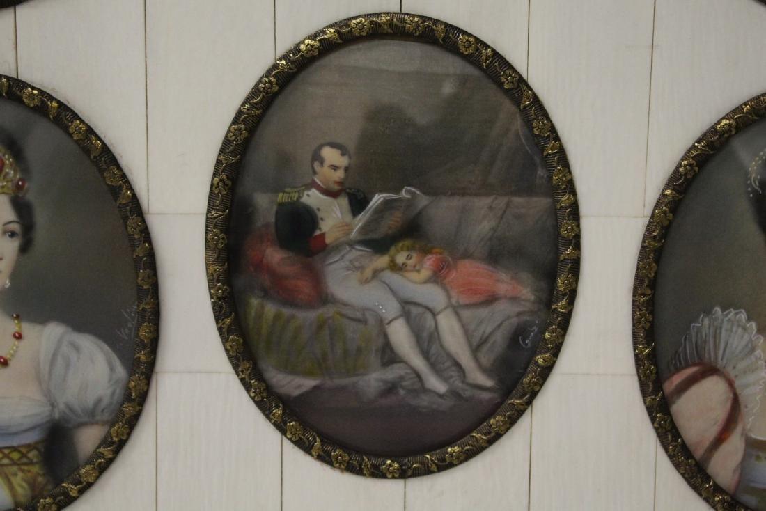 Beautiful framed 9 miniature paintings - 5