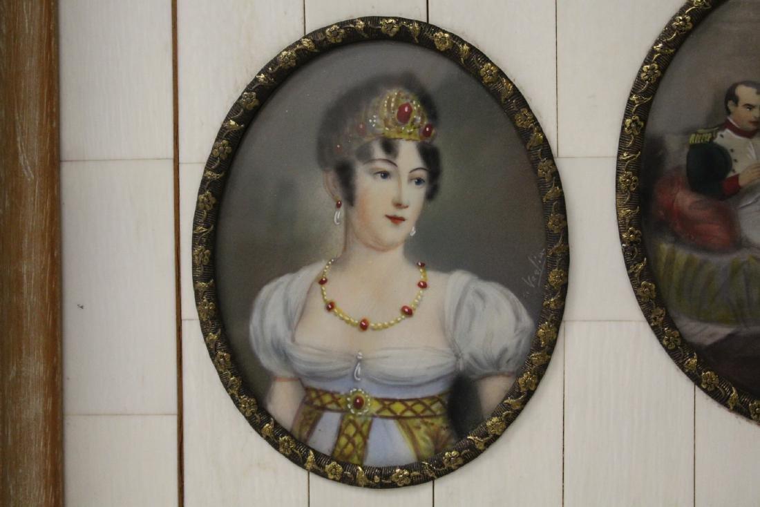Beautiful framed 9 miniature paintings - 8