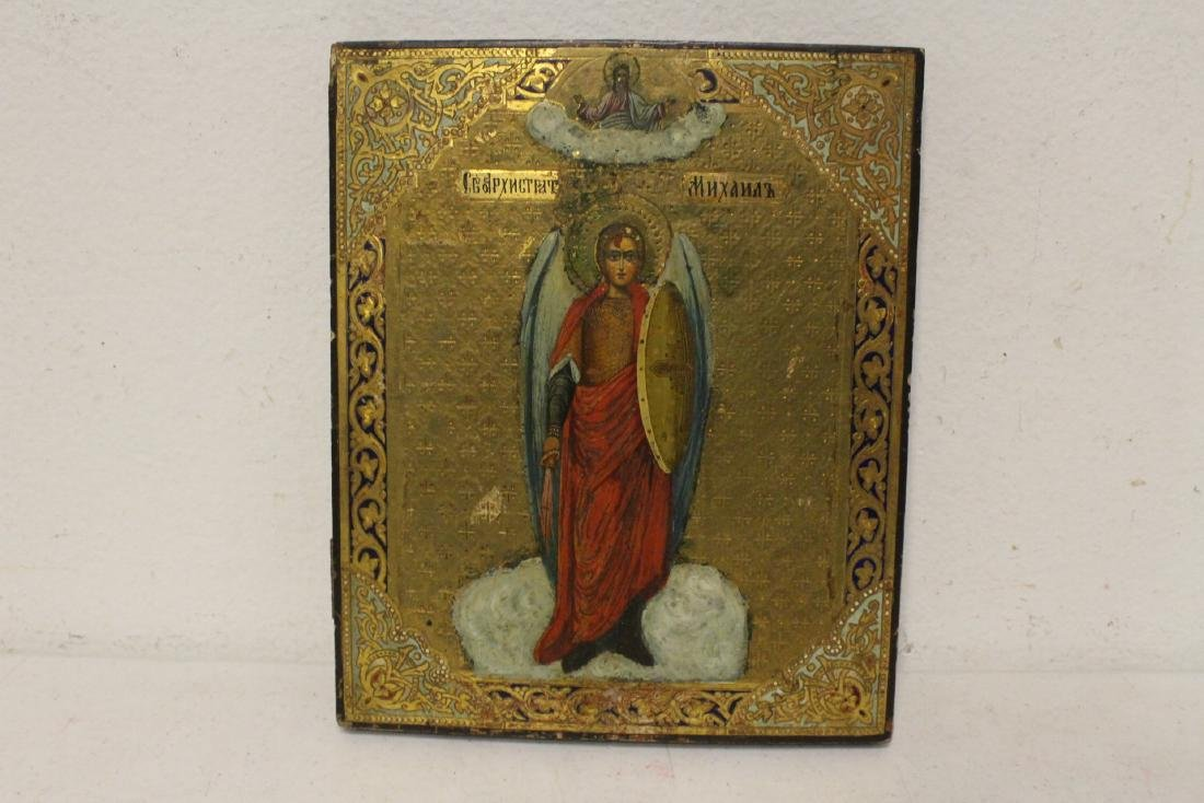 Antique Russian painting on wood icon