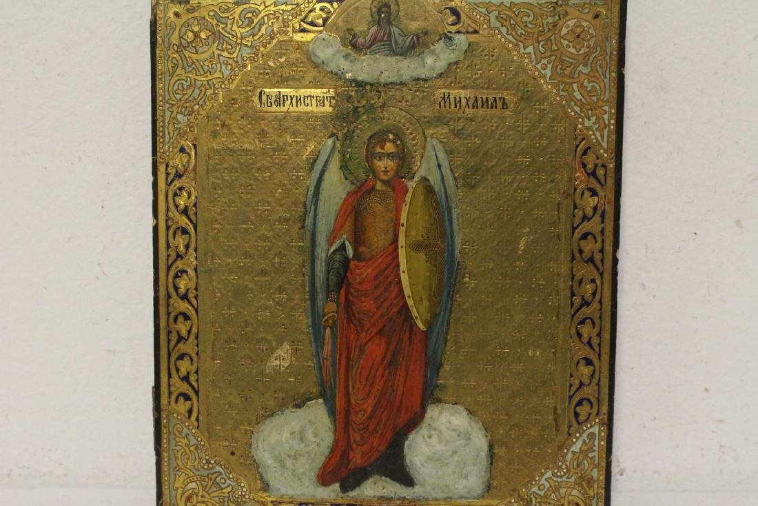 Antique Russian painting on wood icon - 2