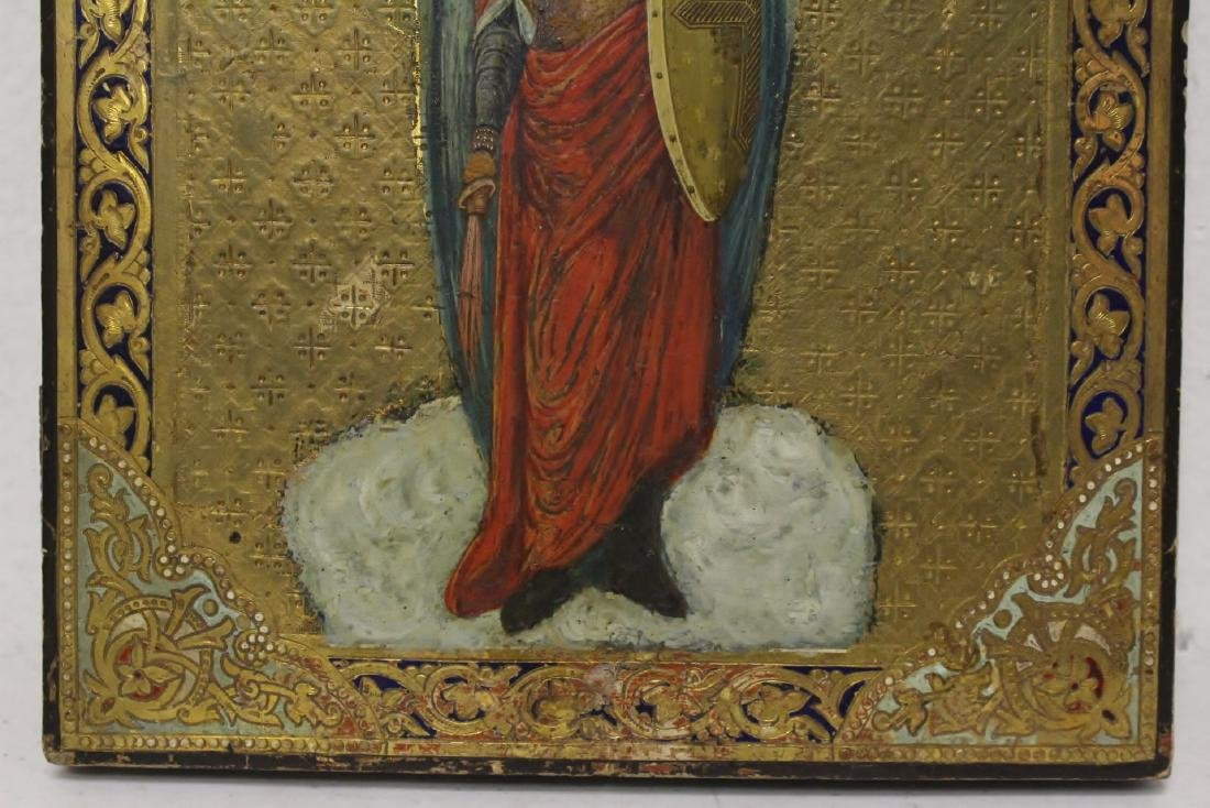 Antique Russian painting on wood icon - 3