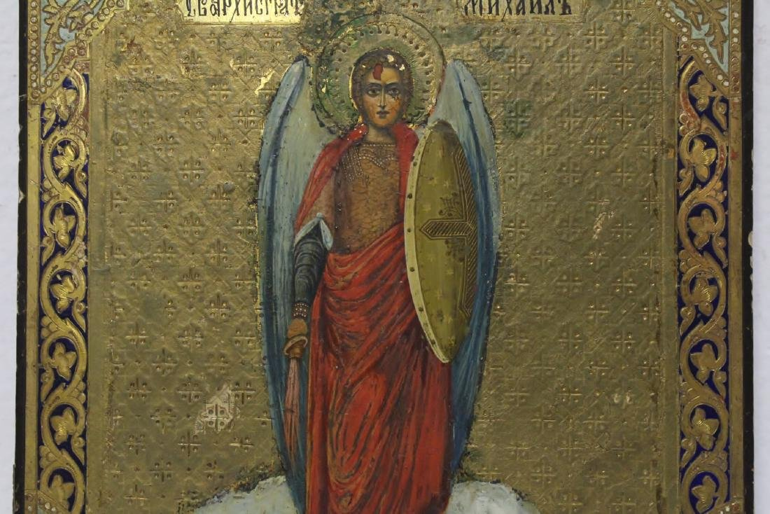 Antique Russian painting on wood icon - 4