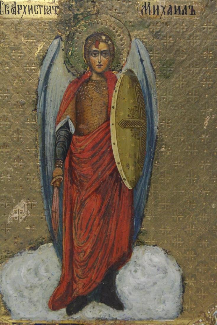 Antique Russian painting on wood icon - 6