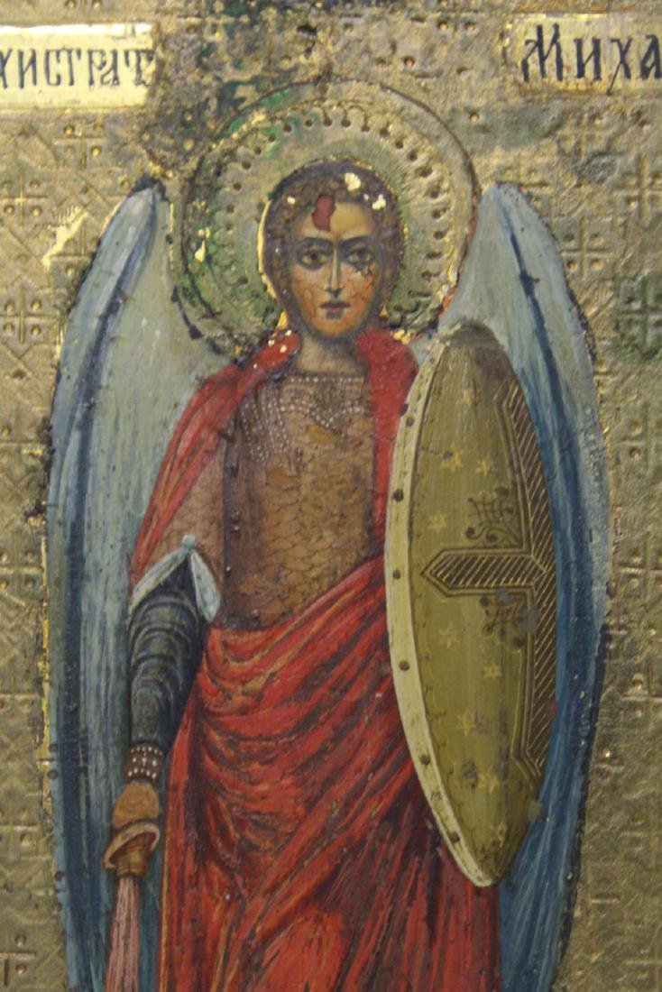 Antique Russian painting on wood icon - 7
